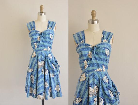 tiki dress 1950s