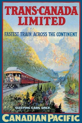 Trans Canada Limited Vintage Train Ads
