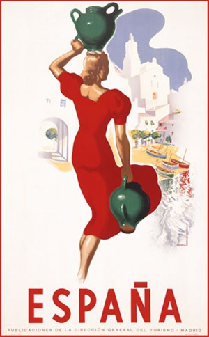 Vintage travel poster of Spain