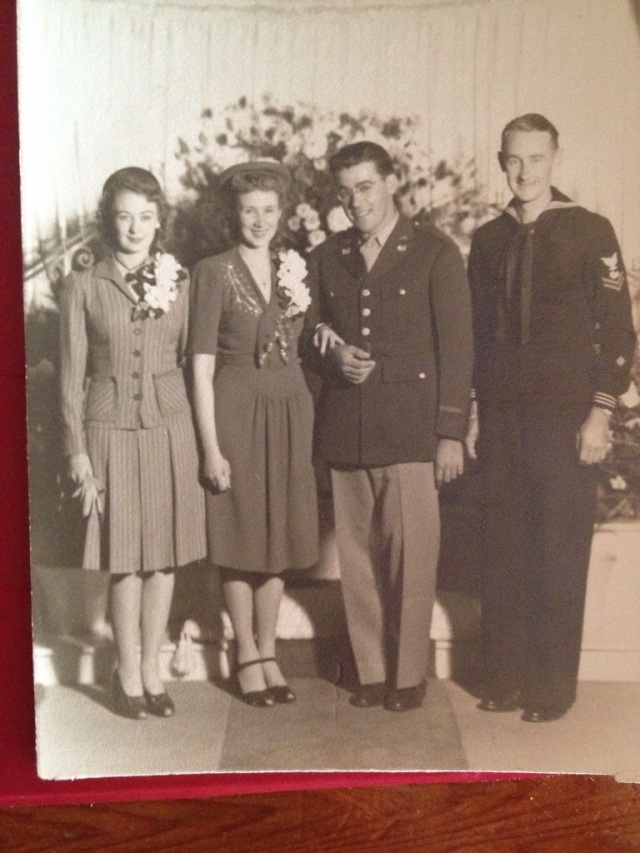 1940s wedding photo