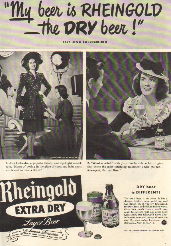 Rheingold Beer Ad 1940
