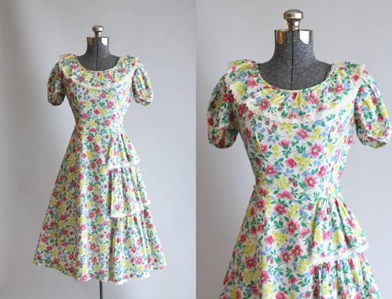 1940s Ethel Lou Jrs cotton dress