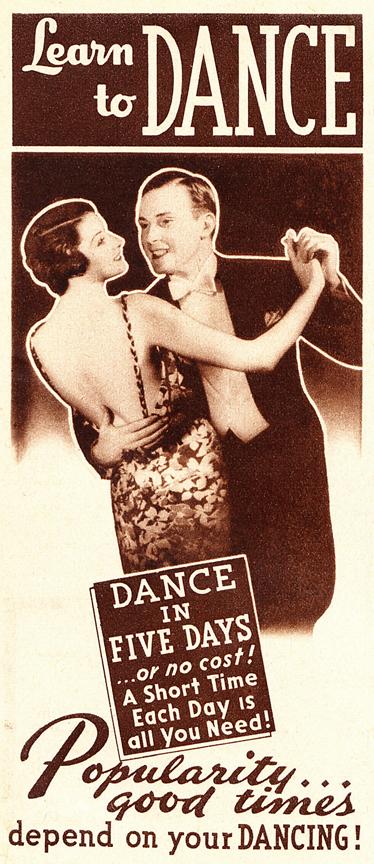 1930s dance ad