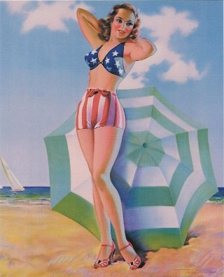 July 4th pinup image