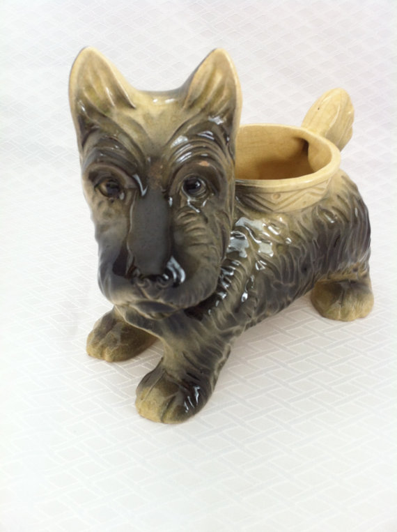 1950s Scottie Dog vintage planter