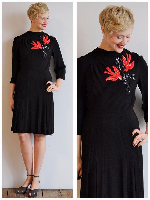 1940s Rayon Dress