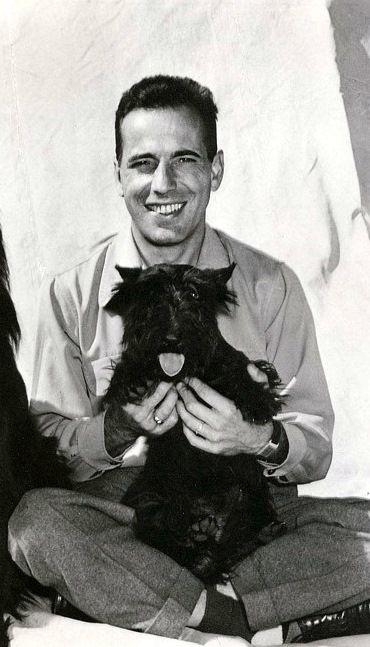 Humphrey Bogart and his scottie dog