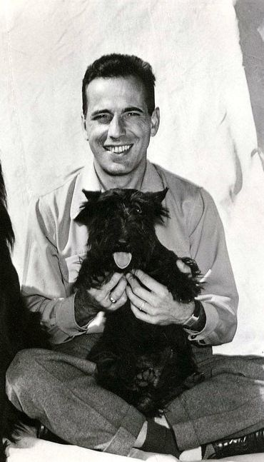 Humphrey Bogart and his scottie dog
