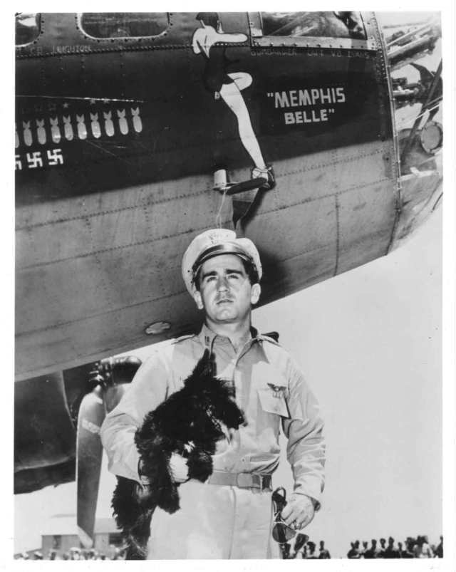 Memphis Belle with Scottie Dog Mascot
