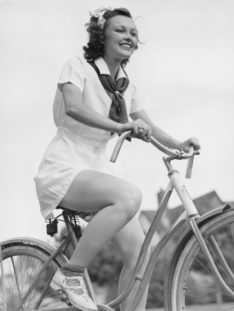 1930s woman on bike