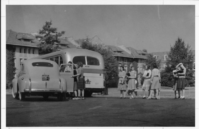 1940s vintage school image