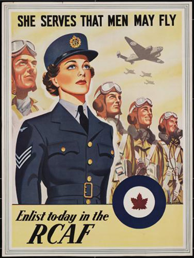 RCAF poster-WW2 Vintage Advertising
