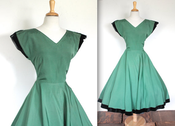 1940s vintage cocktail dress