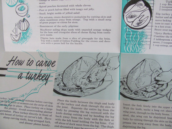 1950s inside of Turkey Recipe book