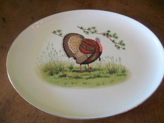 1950s Turkey Platter