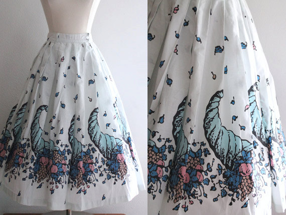 1950s vintage novelty skirt