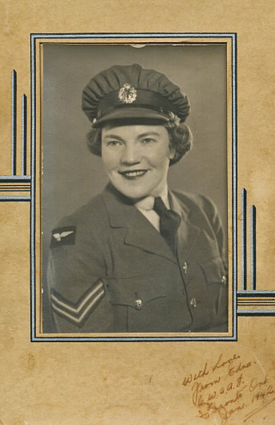 Edna Bryanton RCAF pie crust hat