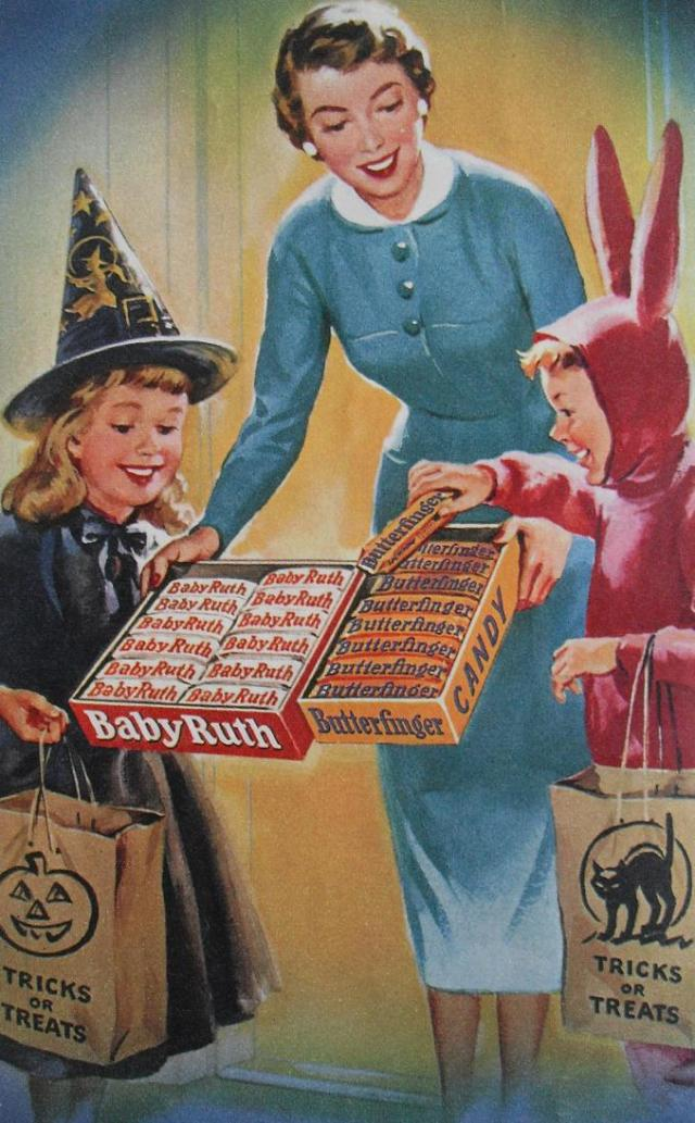 1940s BABY RUTH Butterfinger CURTISS Candy Vintage Halloween Advertisement