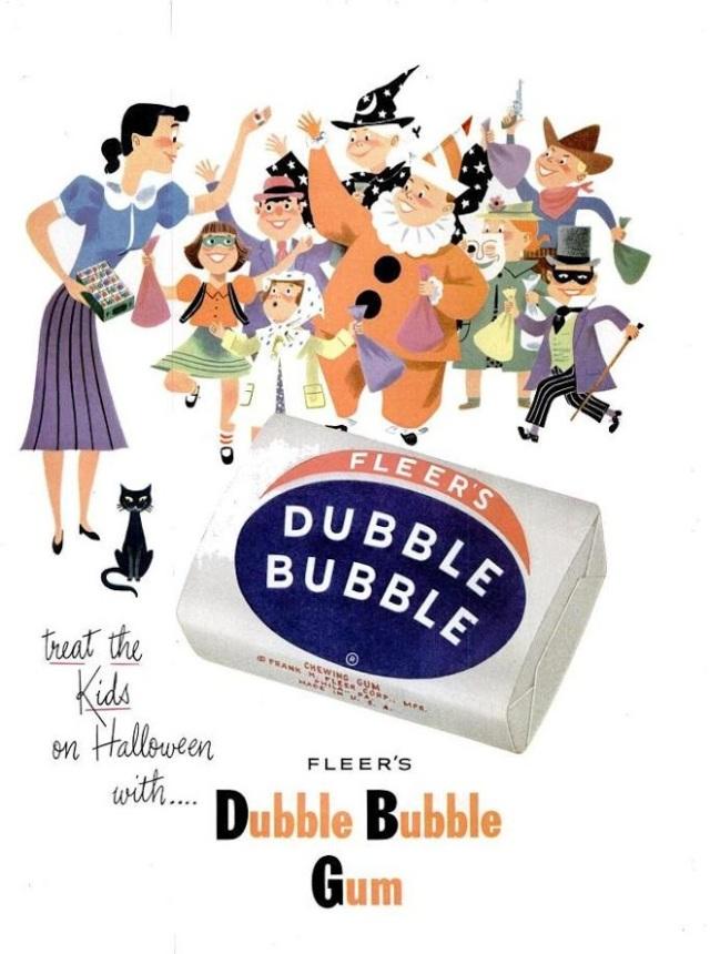 Vintage 1950s Dubble Bubble gum ad