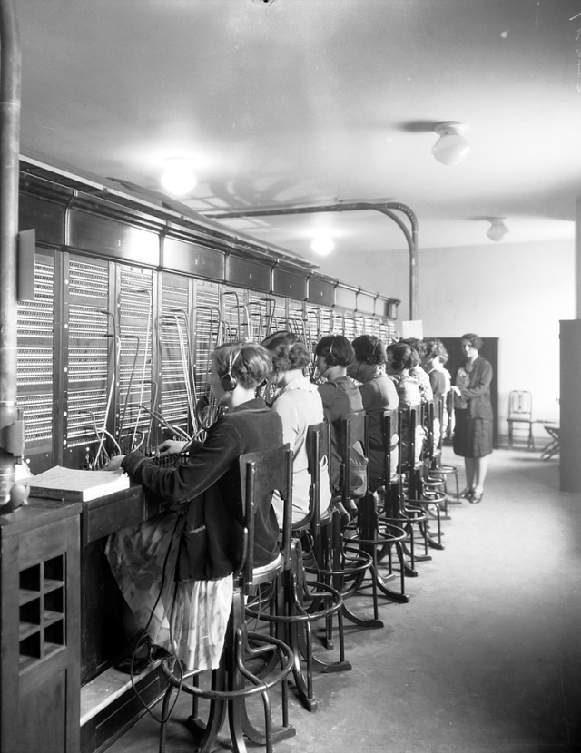 Fairmont Royal York Telephone Switchboard Vintage Image