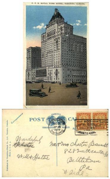 royal york hotel 1929 vintage image
