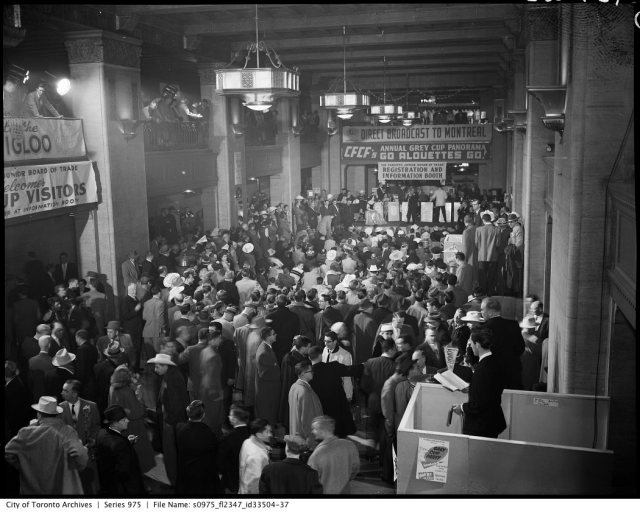 royal york hotel Grey cup 1950s