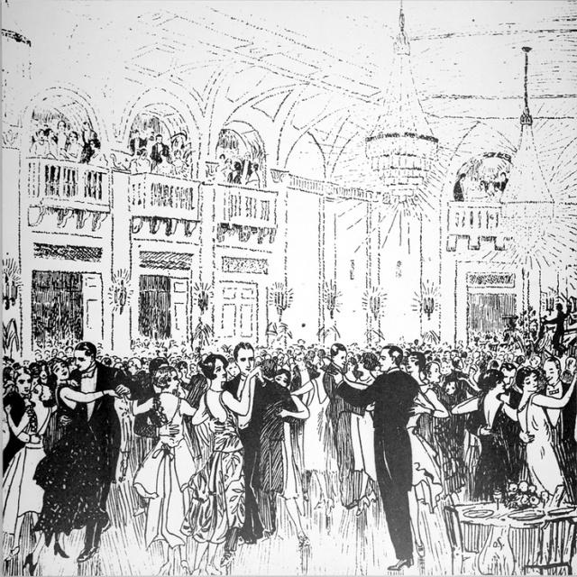 Royal York Hotel Toronto Ballroom Vintage Image