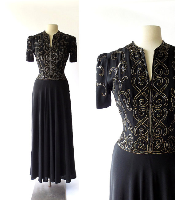 Vintage 1940s gown