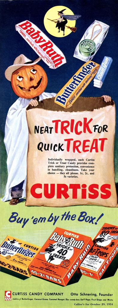 Vintage 1940s Halloween Candy Ad