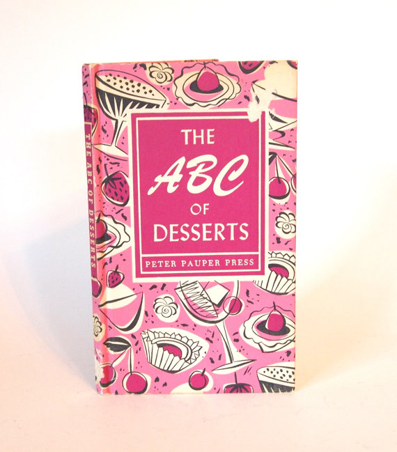 1950s Vintage Dessert cookbook