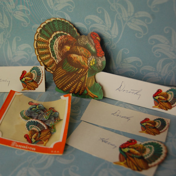 Vintage Thanksgiving place settings