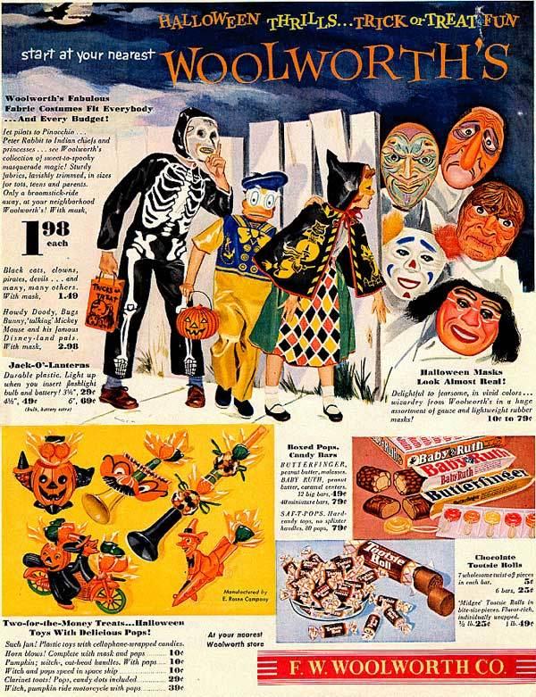 woolworth-halloween 1940s vintage ad